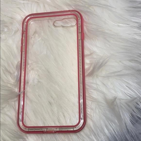 Pink Lifeproof NEXT IPhone 8 Plus phone case